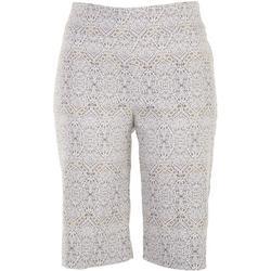 Petite Argyle Skimmer Shorts