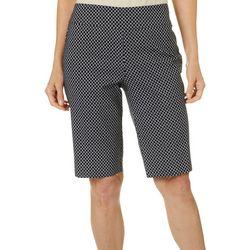 Petite Geo Tile Print Skimmer Shorts