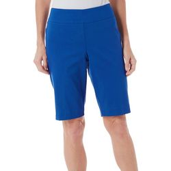 Petite Pull-On Solid Skimmer Shorts