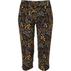Petite Pull On Floral Print Capris
