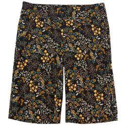 Counterparts Petite Floral Skim Bermda Shorts