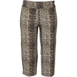 Counterparts Petite Pull On Snake Print Capris