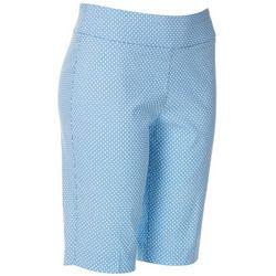Petite Geometric Circle Print Skimmer Shorts