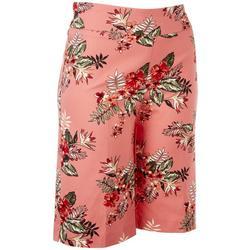 Petite Floral Super Stretch Shorts