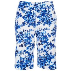 Counterparts Petite Blue Summer Vibes Printed Capris