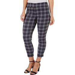 Counterparts Petite Plaid Pull-On Ankle Pants