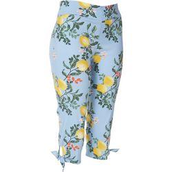 Counterparts Petite Lemon Tie Hem Pull-On Capris