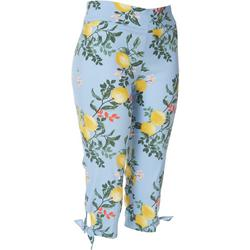 Petite Lemon Tie Hem Pull-On Capris