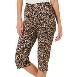 Counterparts Petite Leopard Print Pull On Capris