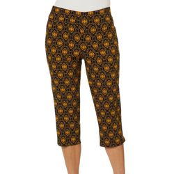 Petite Medallion Print Pull On Capris