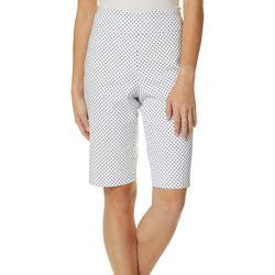 Petite Dot Print Skimmer Shorts