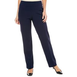 Petite Solid Pull-On Pants