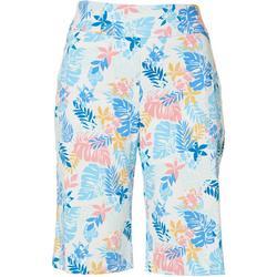 Petite Super Stretch Tropical Shorts