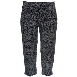 Plus Dotted Print Pull On Capris
