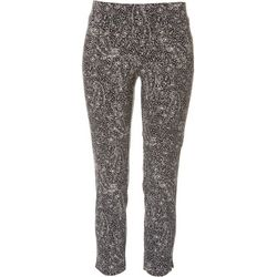 Petite Pull On Paisley Floral Ankle Pants