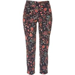 Petite Pull On Floral Ankle Pants