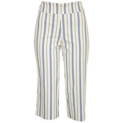 Coral Bay Petite Striped Pull On Capris