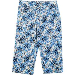 Counterparts Petite Abstract Floral Print Capris