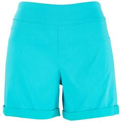 Womens Solid Bermuda Shorts