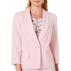Kasper Petite One Button Shawl Collar Blazer