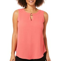 Sami & Jo Petite Ring Neck High-Low Sleeveless Top