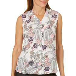 Sami & Jo Petite Floral & Paisley Print High-Low Tank Top