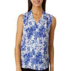 Sami & Jo Petite Floral Print High-Low Sleeveless Top