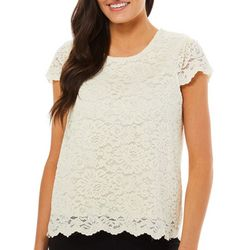 Philosophy Petite Lace Cap Sleeve Top