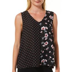 Zac & Rachel Petite Floral Mixed Print Sleeveless Top