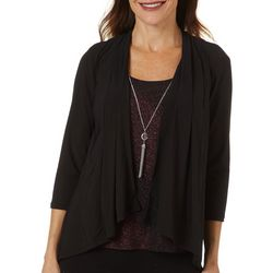 NY Collection Petite Glitter Embellished Duet Top