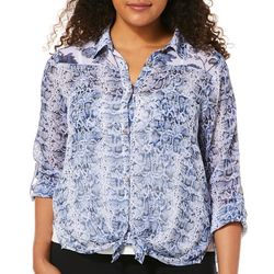 Figueroa and Flower Petite Animal & Floral Print Top