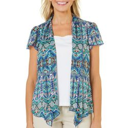 Sara Michelle Petite Mixed Geometric Duet Top