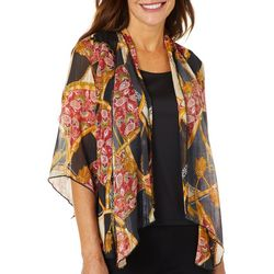 Sara Michelle Petite Mixed Chain Print Duet Top