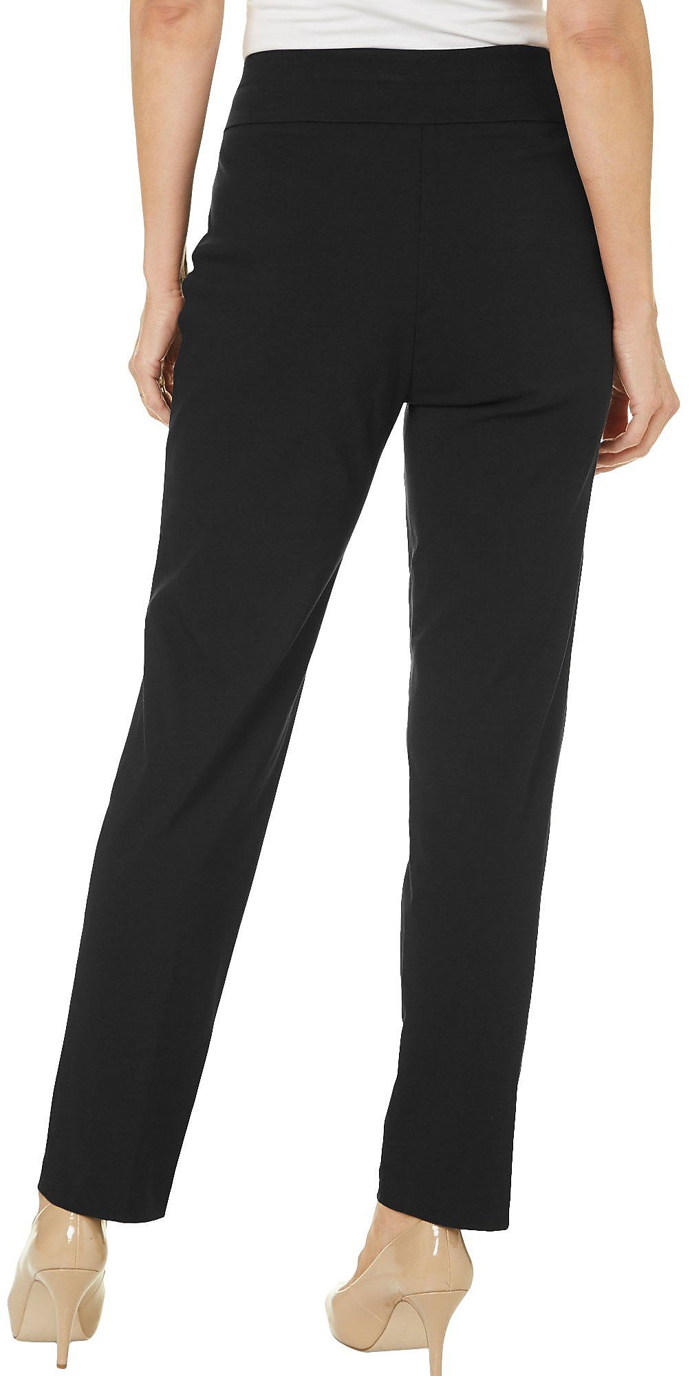 Alfred-Dunner-Petite-Allure-Solid-Pants thumbnail 5