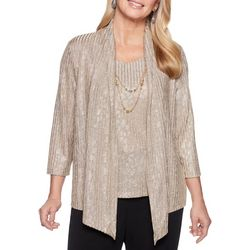 Alfred Dunner Petite Shining Moment Necklace & Duet Top
