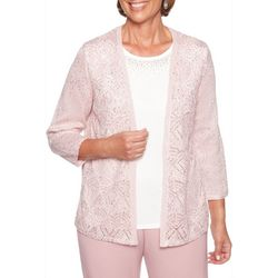 Alfred Dunner Petite Home For The Holidays Duet Cardigan