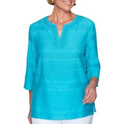 Alfred Dunner Petite Easy Street Textured Top
