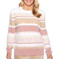 Alfred Dunner Petite Home For The Holidays Striped Sweater