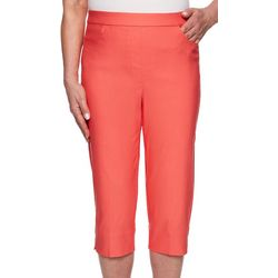 Alfred Dunner Petite Coastal Drive Solid Capris