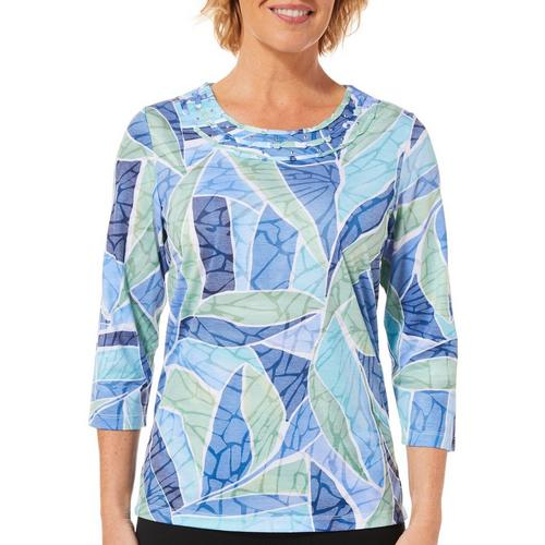 806add25971 Alfred Dunner Petite Greenwich Hills Stained Glass Top