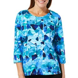 Alfred Dunner Petite Abstract Broken Glass Top