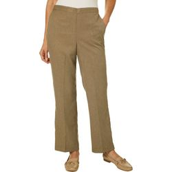 Alfred Dunner Petite Boardroom Solid Pull On Pants