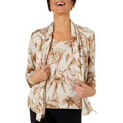 Alfred Dunner Petite Boardroom Floral Duet Top