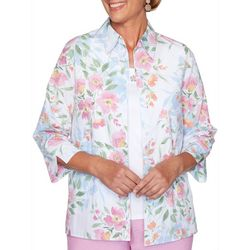 Alfred Dunner Petite Garden Party 2-pc. Floral Duet