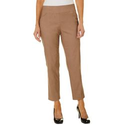 Alfred Dunner Petite Allure Solid Faux Pocket Pants