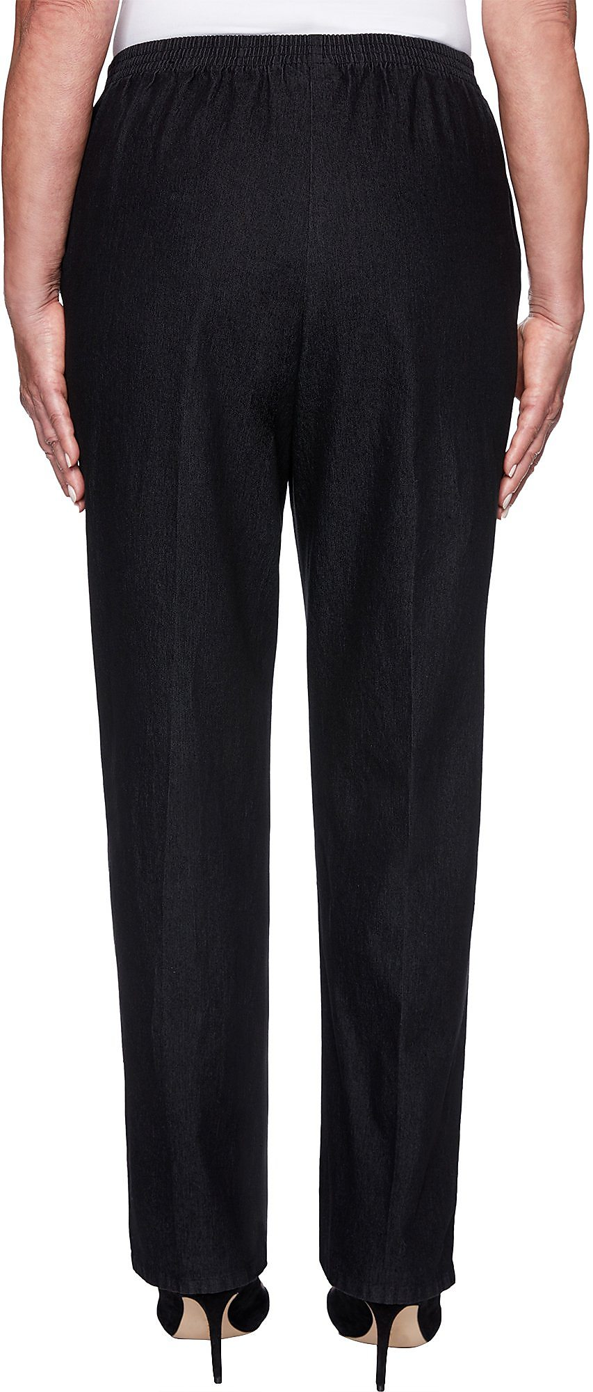 Alfred Dunner Petite Well Red Solid Pull On Pants Ebay