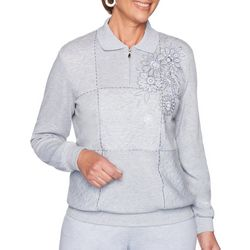 Alfred Dunner Petite All About Ease Bouquet Spliced Top