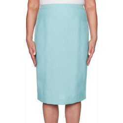 Alfred Dunner Petite Versailles Solid Trouser Skirt