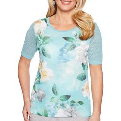 Alfred Dunner Petites Versailles Floral Top