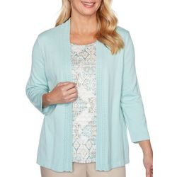 Alfred Dunner Petite Cottage Charm Duet Top